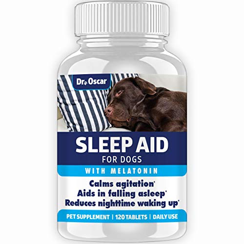 Organic Dog Sleep Aid for Dogs, Better than Melatonin for Dogs or Calming Aid, 120 Sleeping Pills for Dogs, Puppy Sleeping Aid, Dog Sleep Pills Help Dog Sleep - Sleep Supplement for Dogs - Made in USA
