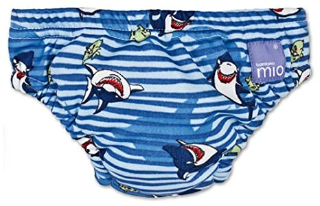 Bambino Mio Swim Nappy, Blue Shark, Size: Extra Large (Manufacturer Size: 12-15kgs, 27-34lbs) 11-54011