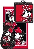 Disney Minnie Dotty 3pc Kitchen Towel Set, Red & Black
