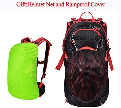 QEE Wasserdichte Nylon-Rucksack Für Outdoor Wandern Camping Reisen Trekking Rucksack Mit Regen-A
