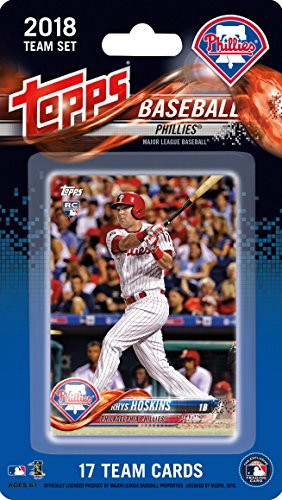 Philadelphia Phillies 2018 Topps Factory Sealed Special Edition 17 Card Team Set with Maikel Franco, Carlos Santana and a Rookie card of Rhys Hoskins plus