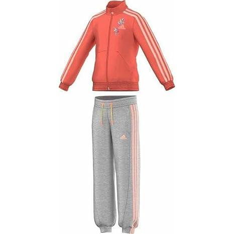 Adidas LG Ri KN TS CH - Chándal para niña, f79642, Naranja ...