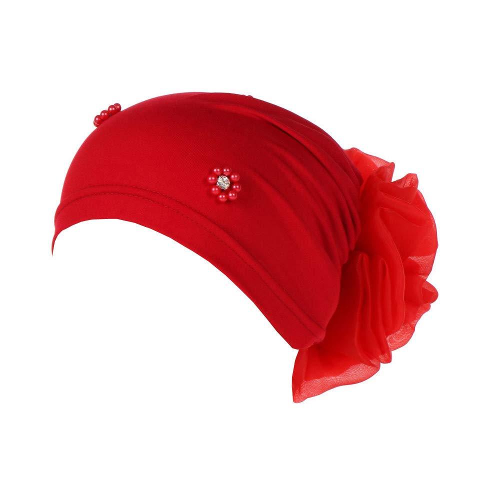 MCYs Damen Muslimische Kopftuch Turban-H/üte Turbanm/ütze Kopfbedeckung Elastizit/ät f/ür Haarverlust Hijab Bandana