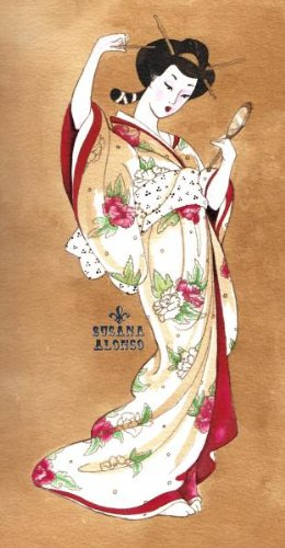 Amazoncom Black Market Art Traditional Geisha By Susana Alonso