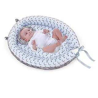 Sundlight Baby Bassinet for Bed,Organic Cotton Newborn Crib Sleeping Nest for Bedroom Travel