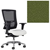 Office Master Affirm Collection AF528 Ergonomic Executive High Back Chair - JR-69 Armrests - Black Mesh Back -...