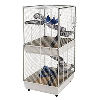Image of Ferplast Ferret Tower Two-Story Ferret Cage | XXL| Ferret Cage Measures 29.5L x 31.5W x 63.4H - Inches Pet Supplies