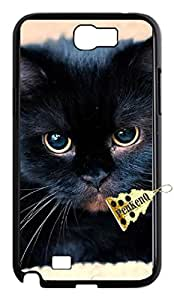 Hard Plastic Cover Black cat samsung galaxy note2 Case.