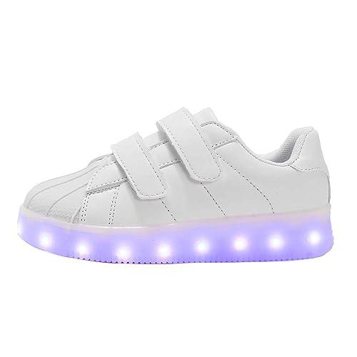 Zapatos Led Niños Niñas 7 Color USB Recargable Deportivas De Luces Zapatillas,LED Luces Zapatillas 25-37,Pascua: Amazon.es: Zapatos y complementos