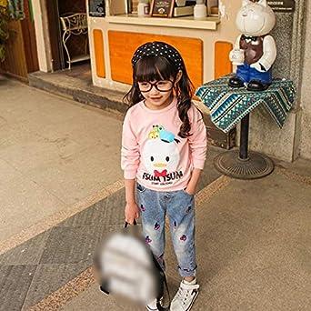 Fansi S/ü/ße und Verspielte Jeans M/ädchen Jeans Kinderhose Kirsche Jeans L/ässige Jeans