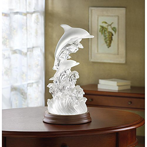 32270 Dolphins (Dolphins Artistic Dolphin On Waves Light)