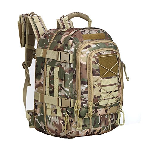 ARMYCAMOUSA Military Tactical Backpack, Large 3 Day Army Molle Assault Rucksack for Outdoors, Hiking, Camping, Trekking, Bug Out Bag & Travel OCP