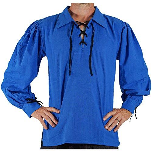 zootzu 'Merchant' Renaissance Shirt - Royal Blue 4X -