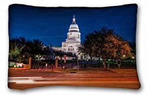 Soft Pillow Case Cover City Custom Cotton & Polyester Soft Rectangle Pillow Case Cover 20x30 inches (One Side) suitable for Full-bed