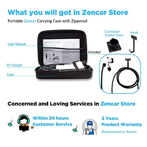 Zencar Level 2 EV Charger(240V, 16A, 25ft), Portable EVSE Home Electric Vehicle Charging Station Compatible with Chevy Volt, Nissan Leaf, Fiat, Ford Fusion(L14-30 Plug) by Zencar (Image #6)