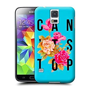 Unique Phone Case Flowers Art Can't Stop Flower Poster Hard Cover for samsung galaxy s5 cases-buythecase