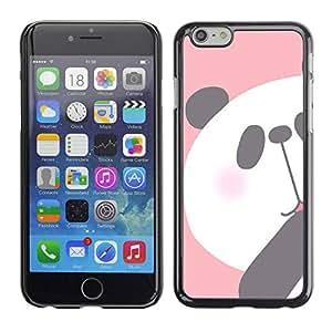 TopCaseStore / la caja del caucho duro de la cubierta de protección de la piel - Drawing Pink White Bear - Apple iPhone 6 Plus 5.5