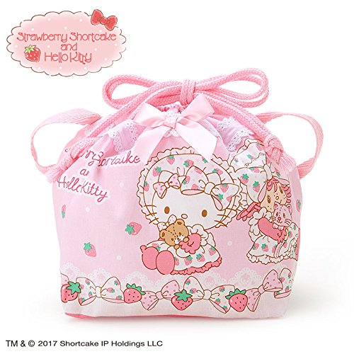 Sanrio Hello Kitty × Strawberry Shortcake lunch purse From Japan New (Strawberry Shortcake Outfits For Toddlers)