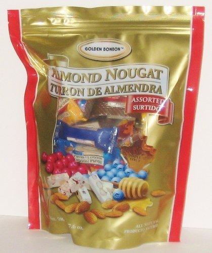 17.6oz Golden BonBon Assorted Almond Nougat Candy from Canada by Golden Bonbon