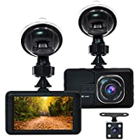 Accfly Full HD 1080P 170° Wide Angle Lens 3.0 LCD Screen Car Dash Cam DVR Recorder With G-Sensor , Loop Recording, Motion Detection ,Vehicle Rear Camera,16GB Card