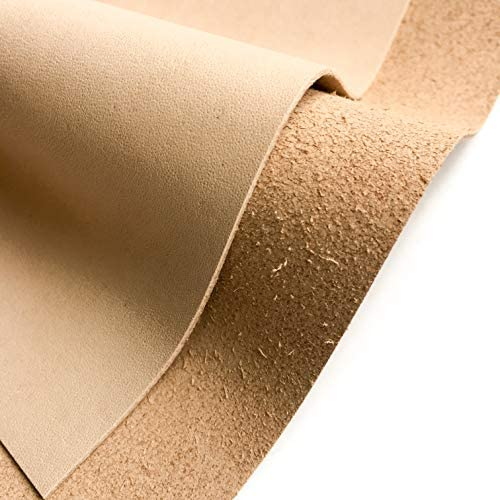 Vegetable Tanned Veg Tan Leather : Raw Thick Square Real Leather for Crafts Vegetable Tanned Leather Material Raw Leather Pieces (Veg Tan, 8x10In/ 20x25cm)