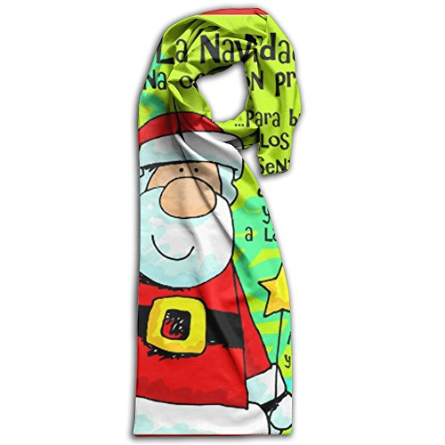 Spanish Feliz Navidad Winter Light.Lightweight Scarf Print Soft Warm Towel Smelless.New Style.Fashion.Fever Stylish Scarves Best Gift (Crackers Christmas Spanish In)
