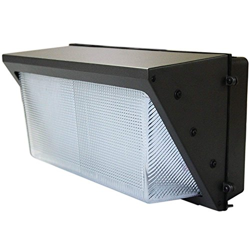 LED Wall-Pack Photo Cell - 100W 5000K Commercial Outdoor Light Fixture (Out-Door Dusk to Dawn Sensor Security Porch Lighting for Industrial Out-Side photocell)
