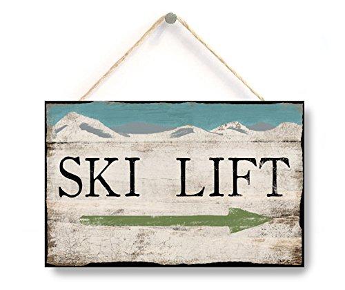 - Ski Lift Sign, Distressed Style Ski Lift Sign, Kki Decor, Ski Lift Arrow Signs, Winter Decor, Cabin Decor, Home Accessory, Gift Sign, 10