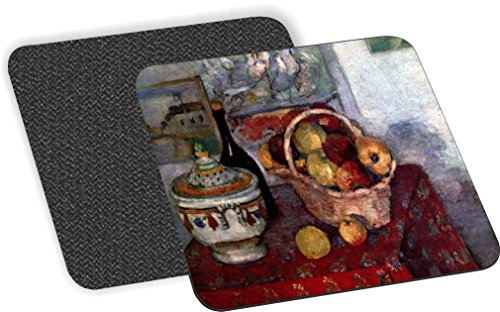 Rikki Knight Paul Cezzane Art Still Life with Soup Tureen Design-Soft Square Beer Coasters (Set of 2), Multicolor (Color Multi Tureen)