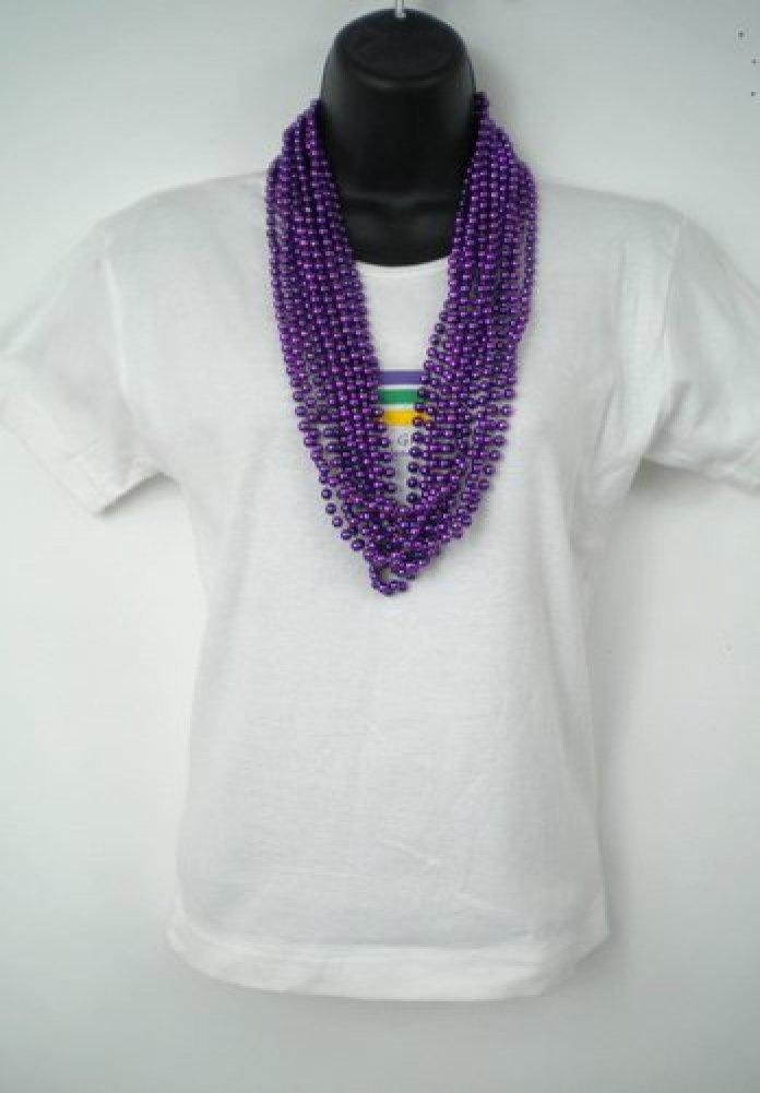33 33 33 Inch 07mm Round Metallic lila Mardi Gras Beads - 6 Dozen (72 Necklaces) by Mardi Gras beads B003YK5K7Q   Zarte  e805b6