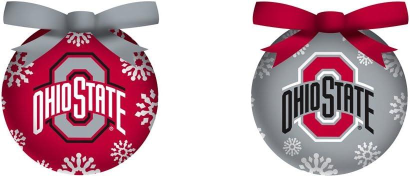 Ohio State University Light Up Ball Christmas Ornament Set of 6