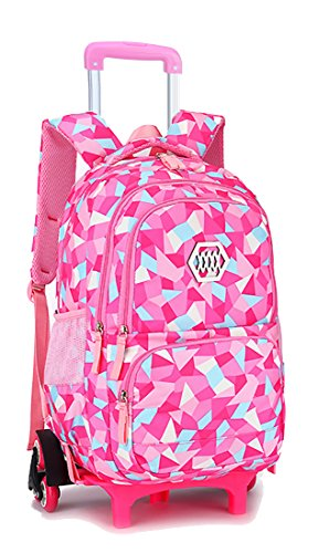 Unisexs Travel Hiking Backpack Waterproof Material (Rose red) - 2