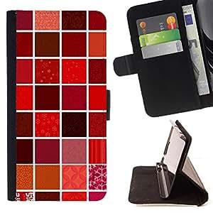- Tiled Wall Design Kitchen Lipstick - Estilo PU billetera de cuero del soporte del tir???¡¯????n [solapa de cierre] Cubierta- For Apple Iphone 4 / 4S £¨ Devil Case £©