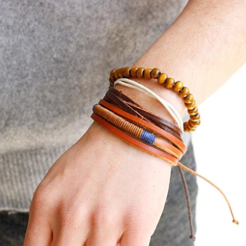 Bracelet, Hatop Fashion Women Multilayer Handmade Wristband Leather Bracelet Bangle - Wristbands Marijuana