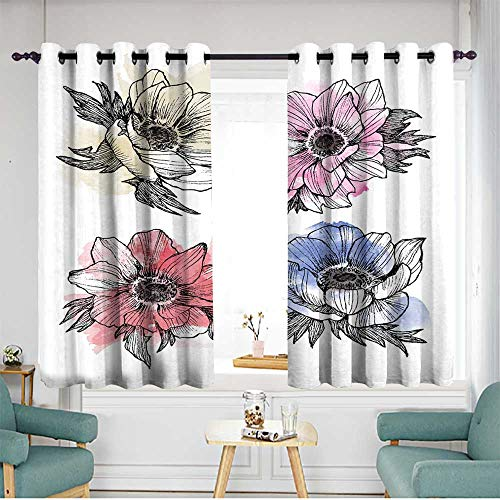 Grommet Window Curtains W 55