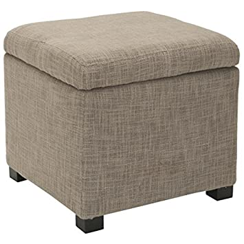 Amazoncom Safavieh Madison Grey Square Storage Ottoman Kitchen