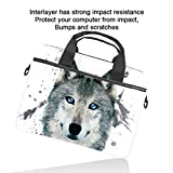 Cpmputer Carrying Case Watercolor Animal Wolf