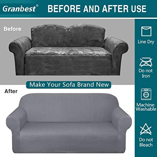 home, kitchen, home décor, slipcovers,  sofa slipcovers 3 discount Granbest Thick Loveseat Sofa Covers for 2 Cushion deals