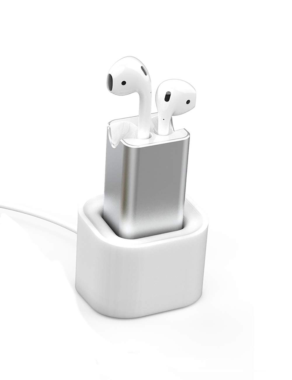 watch 7d9c6 09b22 BLUERIN Airpods Charger Desktop Charging Adapter with Stand Holder and in  Car Charging Wireless Headphones Earbuds Accessories Airpod 1st & 2nd ...