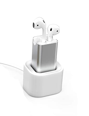 watch e43bc d8e86 BLUERIN Airpods Charger Desktop Charging Adapter with Stand Holder and in  Car Charging Wireless Headphones Earbuds Accessories Airpod 1st & 2nd ...