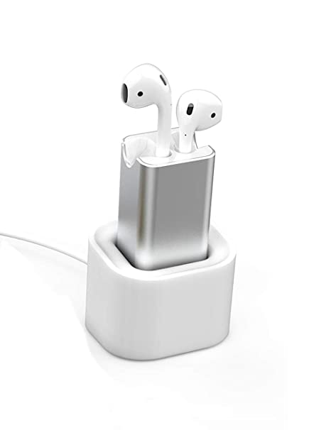 efa667453e0 BLUERIN Airpods Charger Desktop Charging Adapter with Stand Holder and in  Car Charging Wireless Headphones Earbuds