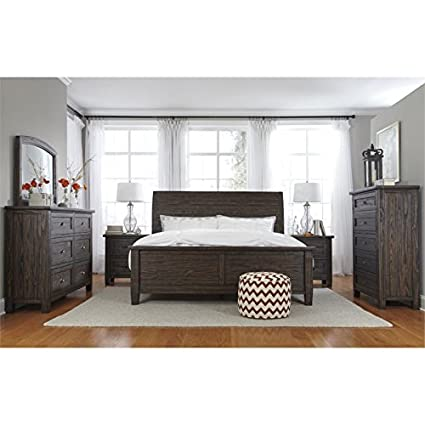 Amazon.com: Ashley Trudell 5 Piece Queen Panel Bedroom Set ...