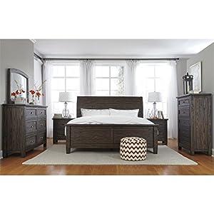Amazon.com: Ashley Trudell 5 Piece King Panel Bedroom Set in Dark ...