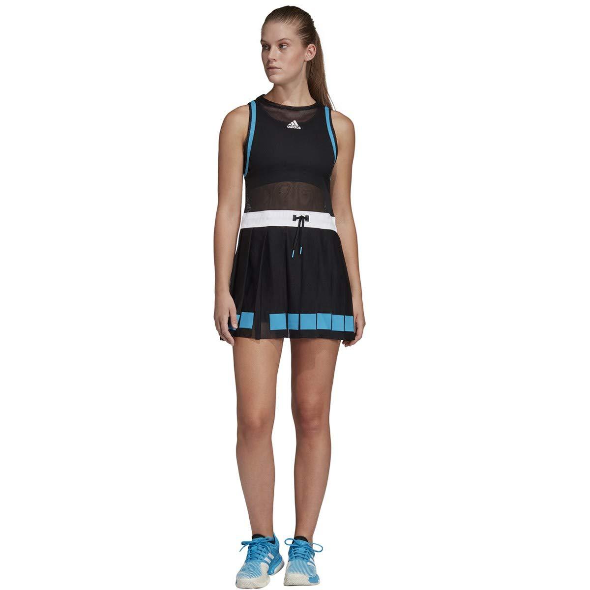adidas Escouade Tennis Dress, Black/White (XX-Small)