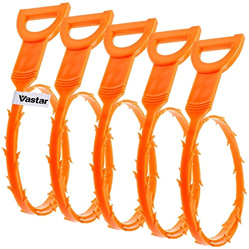 Big Save! Vastar 5 Pack Drain Snake Hair Drain Clog Remover Cleaning Tool