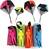 Sipobuy NO 4 piece hand throw parachute men set, tangle free flight, creative multi-color toy for boys and girls, children and adults