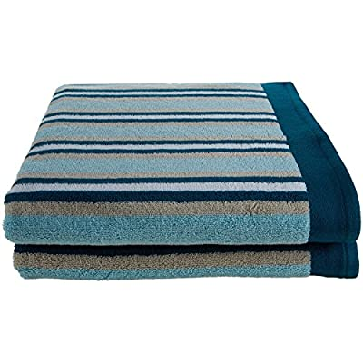 SUPERIOR Collection LuxuriousStripes Combed Cotton 2-Piece Bath Towel Set, Seafoam -  - bathroom-linens, bathroom, bath-towels - 51eifLmX9iL. SS400  -