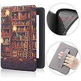Capa Kindle Básico 10ª geração com Iluminação Embutida - Função Liga/Desliga - Fechamento magnético - Silicone com Alça de Le