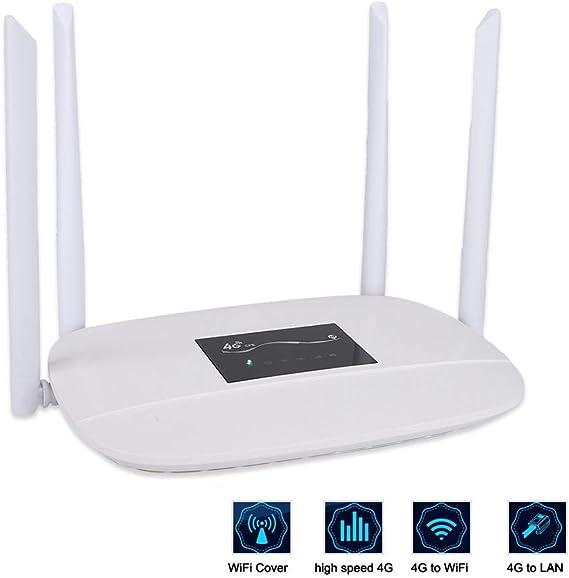 ASHATA 2.4 GHz Router Inalámbrico,4G / 3G LTE Repetidor de ...