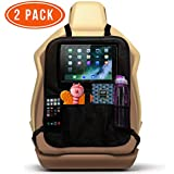Car Backseat Toy Organizers/Front Car Seat Protector for Kids (2 Pack). Back Seat Kick Mat to Protect Your Carseats from Shoe Marks and Damage. Storage Pockets, iPad and Tablet Holder. by Ozziko